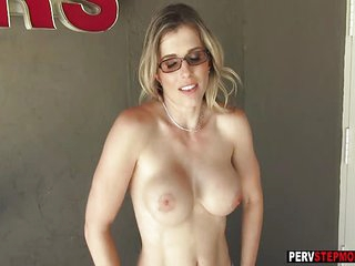 Busty MILF stepmom spent a free time with her stepson