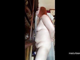 Russian mom Olga fucks her dildo