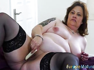 A Busty Chubby Solo Toying Masturbation Rubbing Her Giant BBW Body Getting Off With Some Hot Orgasms