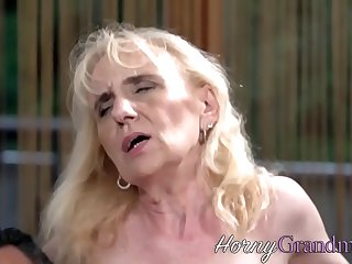 Slutty granny sucking and riding