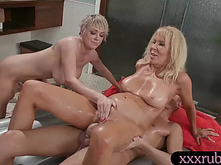 Stepmom and ally nuru massage