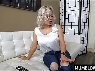 Son bangs Russian Mom