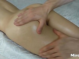 Son does massage to his stepmom and fucks her