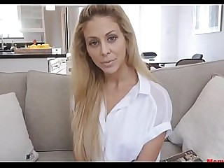 Blonde mom gets blackmailed by son!