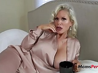 Blonde Mom Loves Pleasing Son