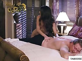 Milf getting fucked by husband and his son