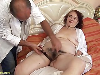extreme hairy chubby 69 years old mom gets rough banged by her hairdresser