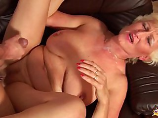 hairy monster boob mom gets rough fist and fucked by her big cock toyboy