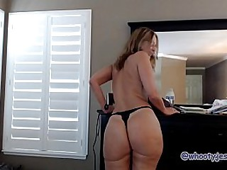 Pantie Tease Pussy Stuffing with Mature Mom JessRyan