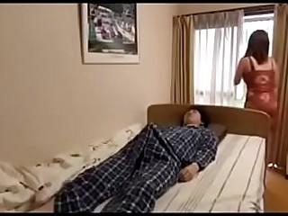 Asian mom with big tits fucks asian son