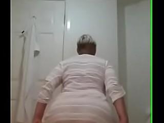 Mom in bathroom
