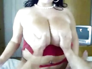 Mature big tits oiled bbw milf handjob and blowjob