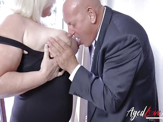 A Businessman Came to Fuck Busty Mature Old Lady And Have His Old Pecker Blown