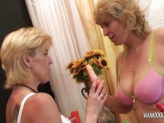 Busty Mature Drills Her Friend Cunt
