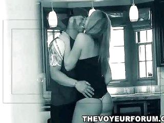 Sexy amateur redhead MILF babe sucks and rides a hard cock